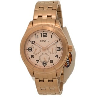 Fossil Women's BQ1411 'Classic' Chronograph Rose-tone Stainless Steel Watch