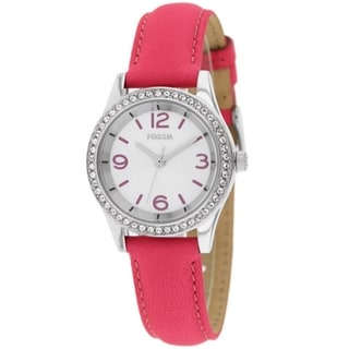 Fossil Women's BQ1426 'Classic' Pink Leather Watch