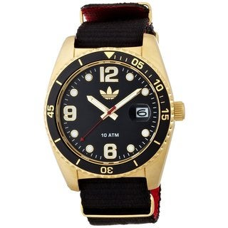 Adidas Men's ADH2865 Brisbane Black/ Yellow Goldtone Watch