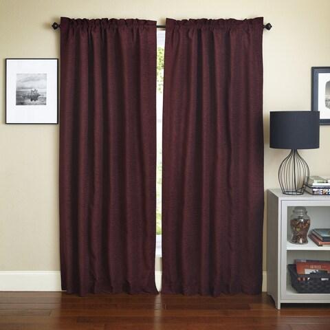 Blazing Needles 'Bordeaux' Patterned Jacquard Chenille Curtain Panels (Set of 2)