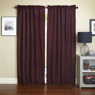 Blazing Needles 'Bordeaux' Patterned Jacquard Chenille Curtain Panels (Set of 2)