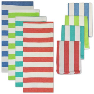 Cabana Stripe Heavyweight Dishtowel/ Dishcloth Set (Set of 8)
