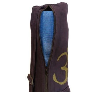 Cotton Canvas OM Symbol Yoga Mat Bag (Nepal)