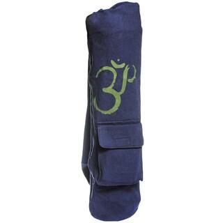 Handmade Cotton Canvas OM Symbol Yoga Mat Bag (Nepal)