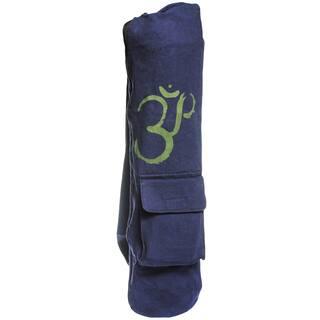 Handmade Cotton Canvas OM Symbol Yoga Mat Bag (Nepal) https://ak1.ostkcdn.com/images/products/9915035/P17072931.jpg?impolicy=medium