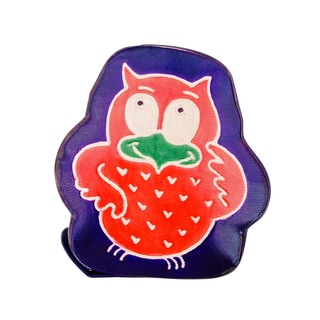 Sitara Collections Cruelty-free Leather Owl Toy Coin Bank (India)