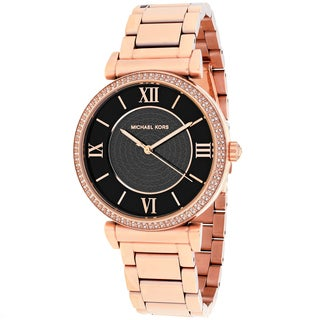 Michael Kors Women's MK3356 Catlin Round Rose-tone Bracelet Watch