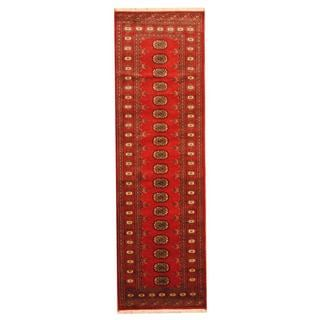 Herat Oriental Pakistan Hand-knotted Tribal Bokhara Wool Runner (2'8 x 8')