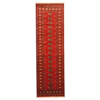 Herat Oriental Pakistan Hand-knotted Tribal Bokhara Wool Runner (2'8 x 8')|https://ak1.ostkcdn.com/images/products/9915080/P17072883.jpg?impolicy=medium
