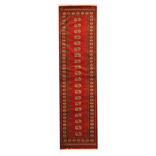 Herat Oriental Pakistan Hand-knotted Tribal Bokhara Wool Runner (2'8 x 10')
