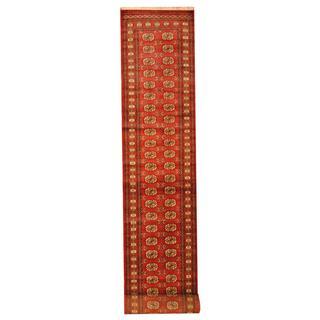 Herat Oriental Pakistan Hand-knotted Tribal Bokhara Wool Runner (2'8 x 17')|https://ak1.ostkcdn.com/images/products/9915097/P17072900.jpg?impolicy=medium