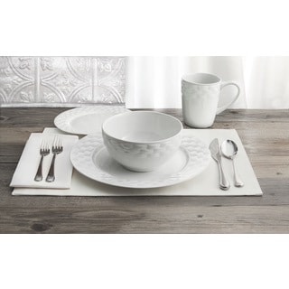 Picnic Weave 16-piece Dinner Set (Refurbished item)