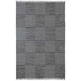 Hand Loomed Earth First Black Jeans Rug (4'x6')