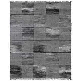 Hand Loomed Earth First Black Jeans Rug (8'x10')