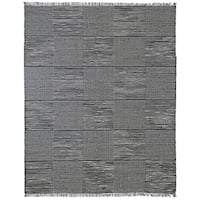 Hand Loomed Earth First Black Jeans Rug (8'x10') - 8' x 10'