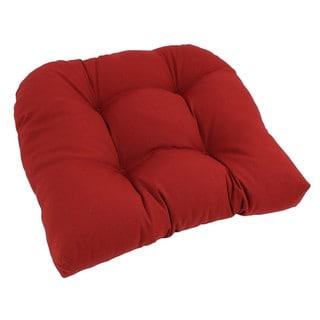 Blazing Needles 19x19-inch U-Shaped Tufted Twill Chair Cushion