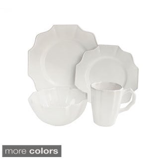 Scallop White 16-piece Dinner Set