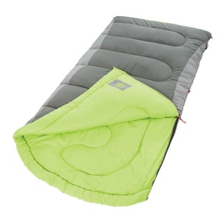 Coleman Dexter Point Big and Tall Contoured Sleeping Bag (Option: 40 Degree (Lime/Grey))