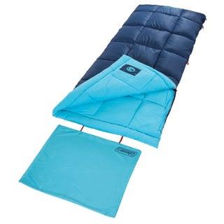 Coleman Heaton Peak Regular Sleeping Bag (Option: 50 Degree Navy/Red)