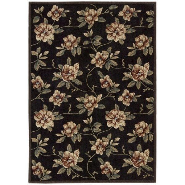 Nourison Cambridge Black Rug (5'3 x 7'4)