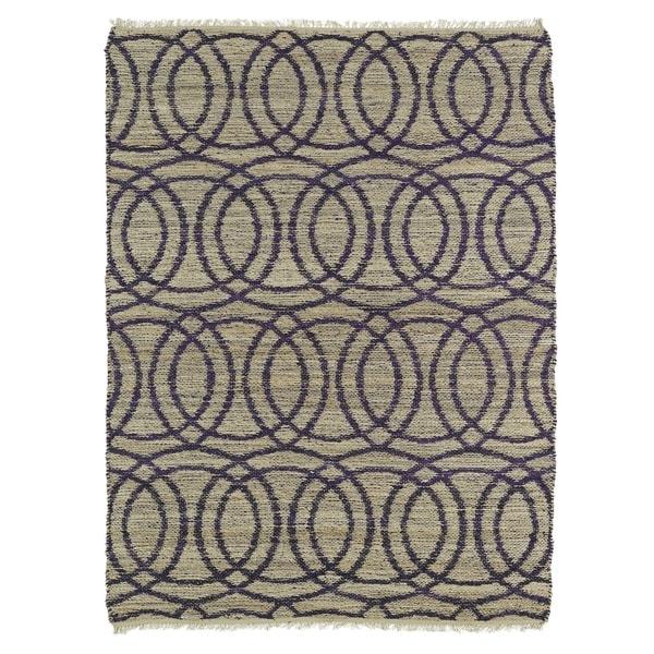 Purple Circle Rugs: Shop Handmade Natural Fiber Cayon Purple Circles Rug