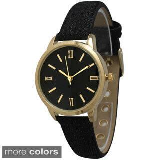 Olivia Pratt Women's Denim Leather Band Watch|https://ak1.ostkcdn.com/images/products/9915458/P17073196.jpg?impolicy=medium