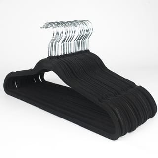 Ultra Thin Black No Slip Velvet Suit Hanger (Set of 25)|https://ak1.ostkcdn.com/images/products/9915463/P17073203.jpg?impolicy=medium