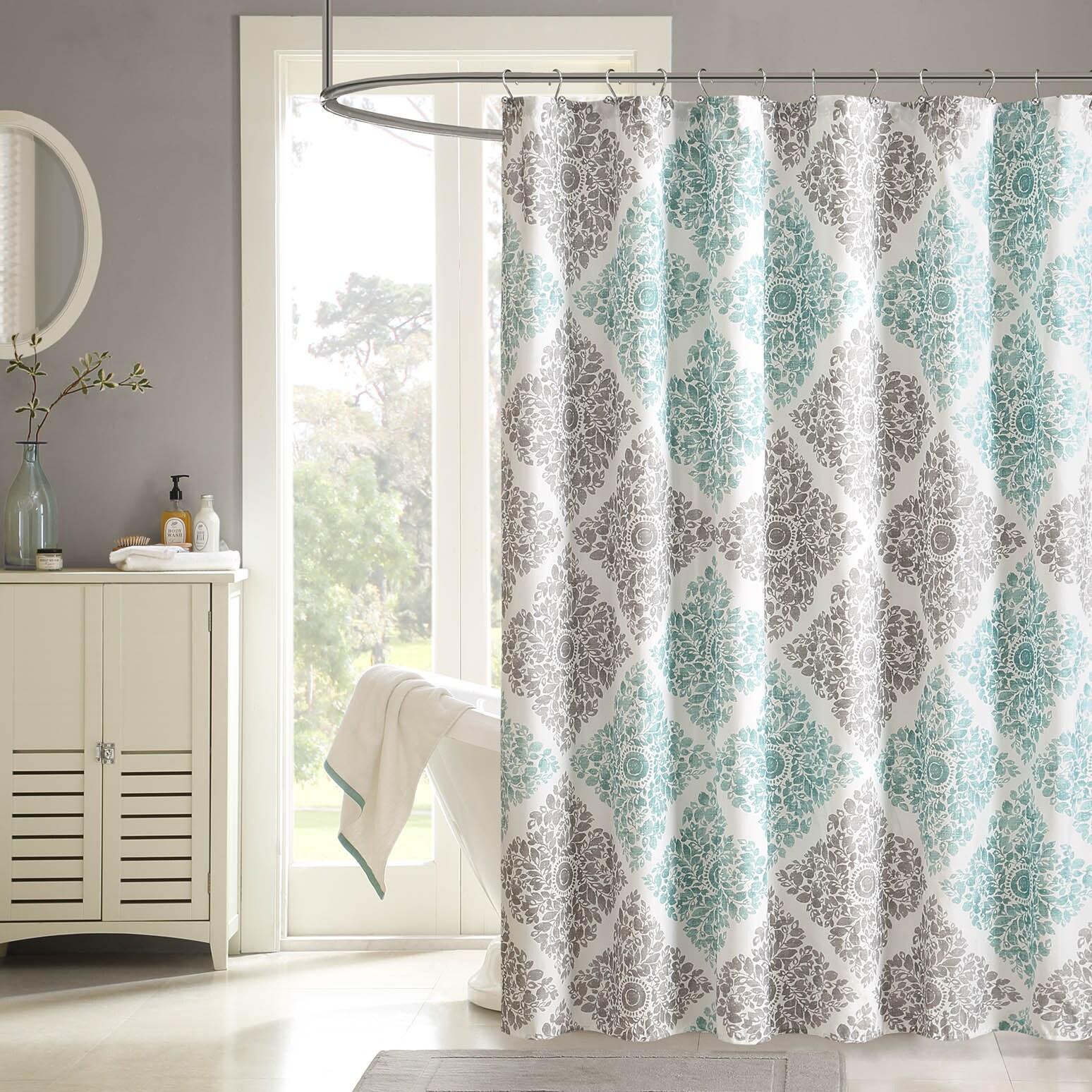 """Madison Park Montecito Shower Curtain (72 x 84"""" - Aqua), ..."""