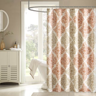 The Curated Nomad Lyon Geometric Shower Cutain