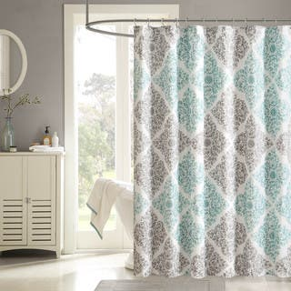 Grey And Turquoise Shower Curtain. Madison Park Montecito Shower Curtain Curtains For Less  Overstock com Vibrant Fabric Bath