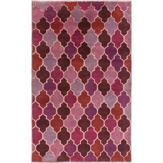 Hand-Knotted Brittney Moroccan Trellis Indoor Rug (2' x 3')