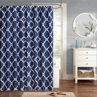 Clay Alder Home Niantic Blue Chevron Shower Curtain (More options available)
