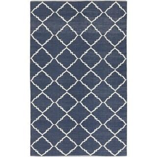 Hand-Woven Michele Moroccan Trellis PVC Area Rug - 2' x 3'