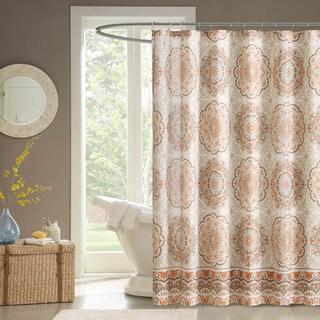 Fresh Orange Shower Curtains For Less   Overstock - Vibrant Fabric Bath  GA41