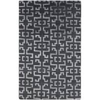 Hand-Knotted Angeline Geometric Indoor Area Rug - 5' x 8'
