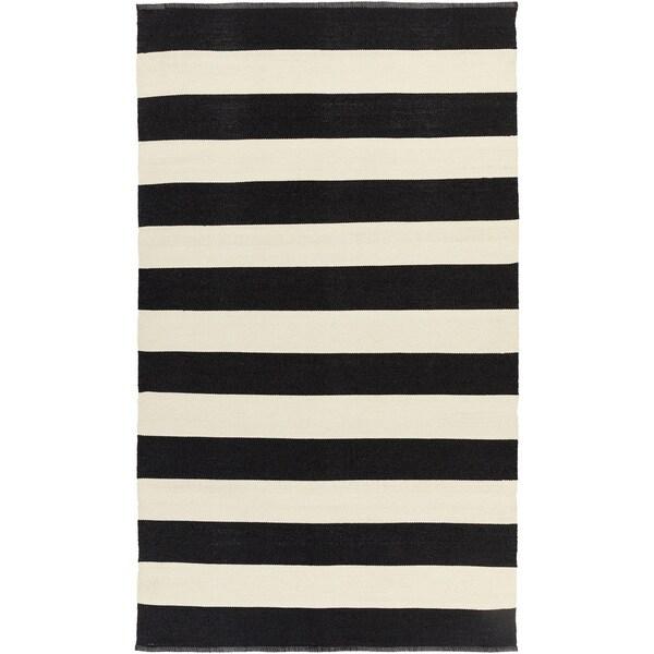 Hand-Woven Jonas Stripe PVC Area Rug - 8' x 11'