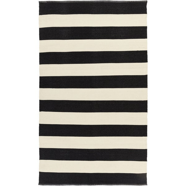 "Hand-woven Jonas Stripe Indoor/ Outdoor Area Rug - 3'3"" x 5'3"""