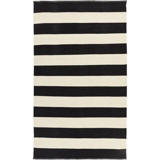 Hand-Woven Jonas Stripe PVC Rug (3'3 x 5'3)