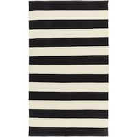 Hand-woven Jonas Stripe Indoor/ Outdoor Area Rug - 3'3 x 5'3