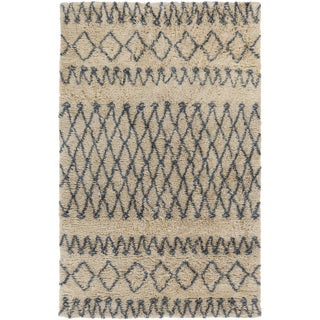 Hand-Woven Kira Geometric New Zealand Wool Rug (5' x 8')