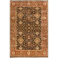 Hand-Knotted Lena Floral New Zealand Wool Area Rug - 5'6 x 8'6