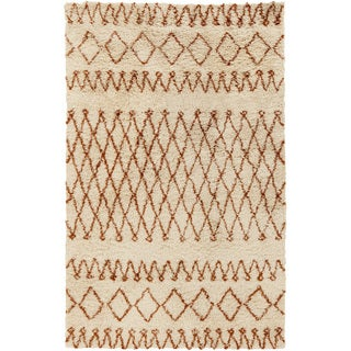 Hand-Woven Kira Geometric New Zealand Wool Rug (8' x 10')