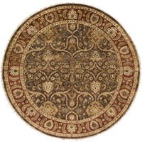 Hand-Knotted Lena Floral New Zealand Wool Area Rug (8' Round) - 8'