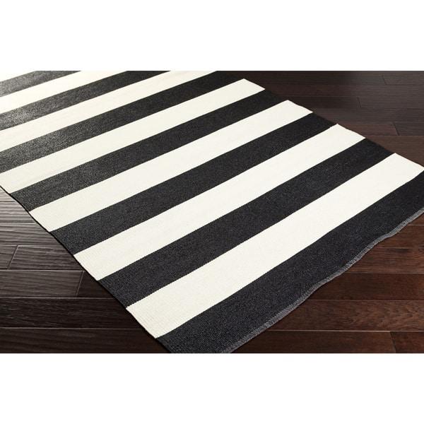 Shop Hand-Woven Jonas Stripe PVC Indoor/ Outdoor Area Rug