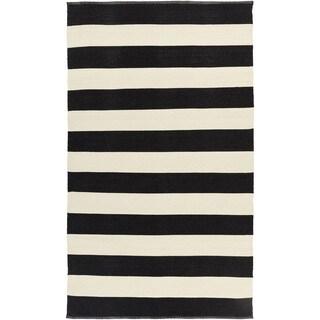 Hand-Woven Jonas Stripe PVC Area Rug (5' x 8')