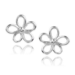 Journee Collection Sterling Silver Flower Stud Earrings