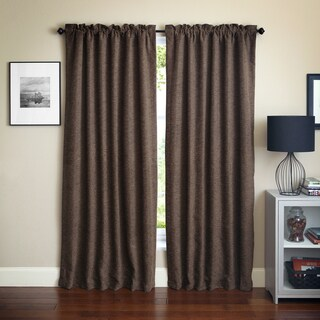 Blazing Needles 'Vermont' Patterned Jacquard Chenille Curtain Panels (Set of 2)