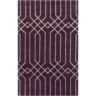 Hand-Tufted Howard Geometric Pattern Viscose Rug (3'3 x 5'3)