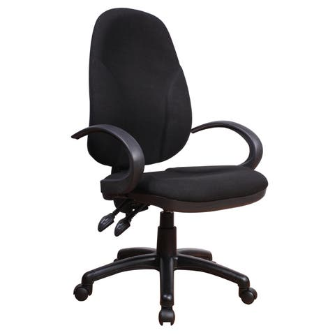 Somette Matte Black Fabric Adjustable Office Chair