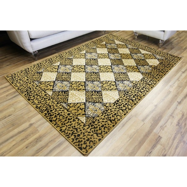 LYKE Home Audrey Gold Geometric Area Rug - 8' x 11'